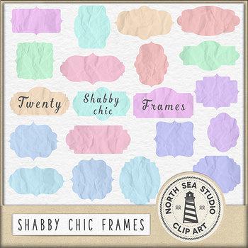 Shabby Chic Frames Clipart