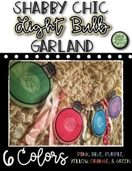 Shabby Chic Glow Light Bulb Garland