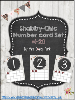 Shabby-Chic Inspired Number Cards 0-20