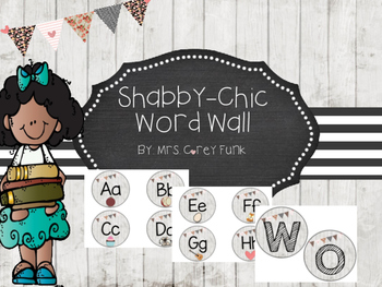 Shabby Chic Inspired Word Wall Headers