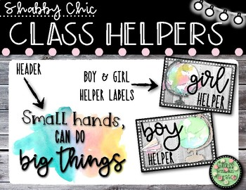 Shabby Chic Keep It Simple Class Helpers