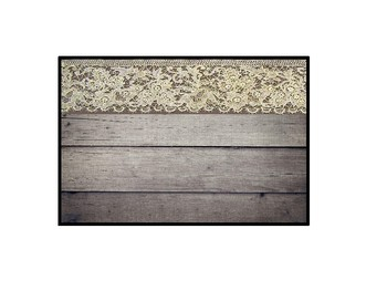 Shabby Chic Lace trim locker sign