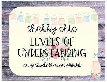 Shabby Chic Levels of Understanding