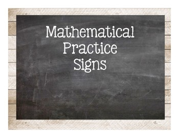 Shabby Chic Mathematical Practice Signs