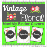 Shabby Chic Monthly Binder Covers (Spines Included)