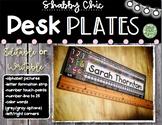 Shabby Chic Name Desk Plates
