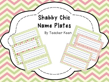 Shabby Chic Name Plates