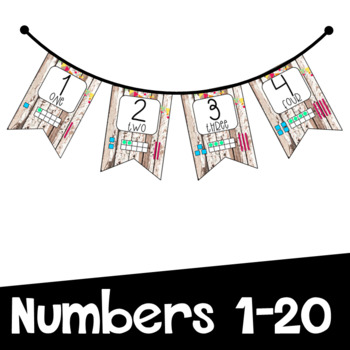 Shabby Chic Number Bunting