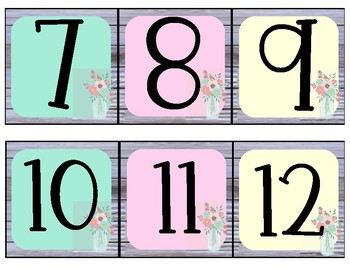 Shabby Chic Number Line