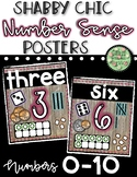 Shabby Chic Number Sense Posters SET 1