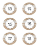 Numbered Labels! Shabby Chic Design