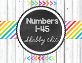Shabby Chic Numbers 1-45