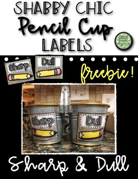 Shabby Chic Pencil Cup Labels
