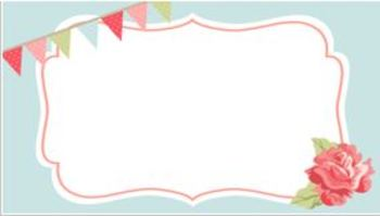 Shabby Chic PowerPoint Backgrounds 20 DIFFERENT BACKGROUNDS