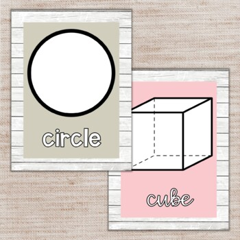 Shabby Chic Shapes Posters