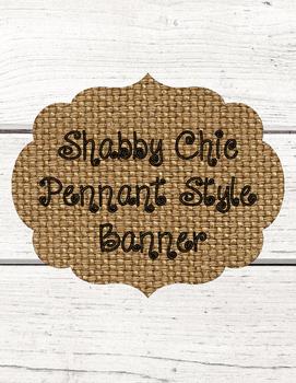 Shabby Chic Shiplap and Burlap Pennant