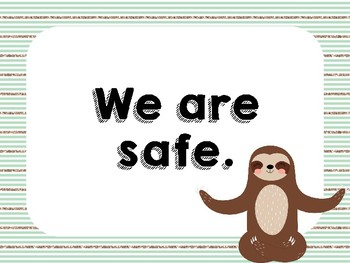 Shabby Chic Sloth Rules Posters
