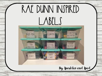 Rae Dunn Inspired Square Supply Labels