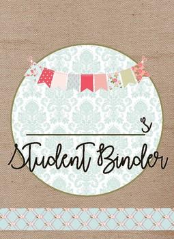 Shabby Chic Student Binder