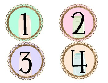 Shabby Chic Student Numbers