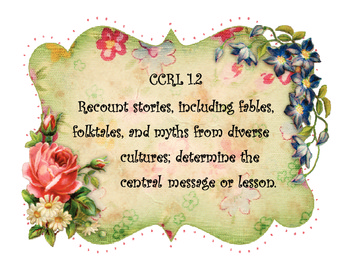 Shabby Chic Style First Grade Common Core Standards Reading Language Posters