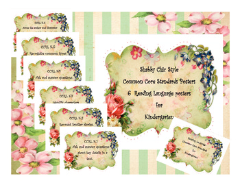 Shabby Chic Style Posters  Third Grade Common Core Standards Reading Language