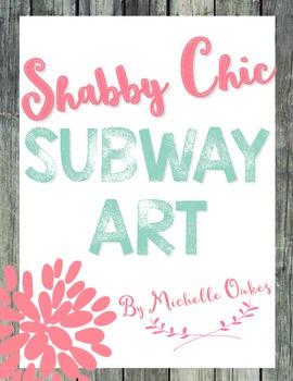Shabby Chic Subway Art for the Classroom
