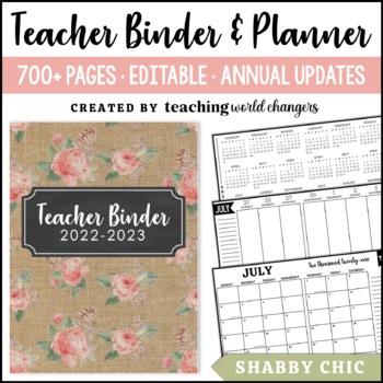 Shabby Chic Teacher Binder