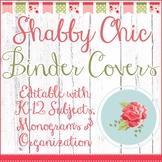 Shabby Chic Teacher Binder Covers: Editable