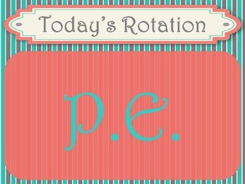 Shabby Chic (Teal, Gray & Coral) Specials / Rotation Posters *Editable