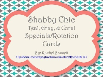 Shabby Chic (Teal, Gray & Coral) Specials / Rotation Poste