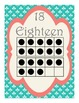 Shabby Chic (Teal, Gray & Coral) Ten Frame Posters