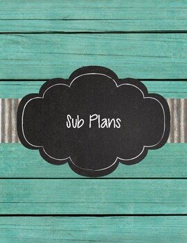 Shabby Chic Teal Shiplap Wood and Corrugated Metal Teacher Binder 2018-2019