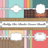 Shabby Chic Theme Binder & Spine Covers Bundle