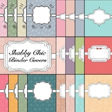 Shabby Chic Theme Binder & Spine Covers Set 1