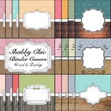 Shabby Chic Theme Binder & Spine Covers Set 2