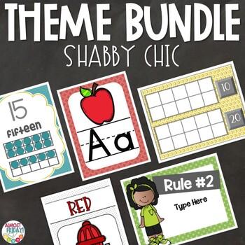 Shabby Chic | Classroom Theme Decor Bundle