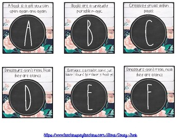 Shabby-Chic Themed Classroom Library Bin Labels