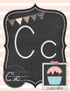 Shabby Chic Vintage Inspired Alphabet Cards or Alphabet Posters Print Font