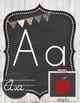 Shabby Chic Vintage Inspired Alphabet Cards or Alphabet Po
