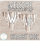 Editable Shabby Chic Print and Cursive Welcome Banner