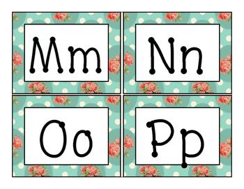 Shabby Chic Word Wall Alphabet Headings