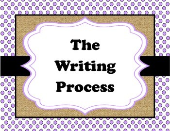 Shabby Chic Writing Process Posters