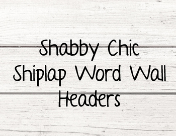 Shabby Chic Shiplap Wordwall Header