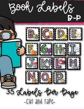 Shabby Classroom Library Labels