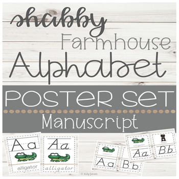 Shabby Farmhouse Alphabet