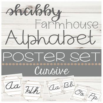 Shabby Farmhouse Cursive Alphabet
