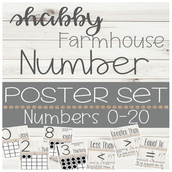 Shabby Farmhouse Number Posters