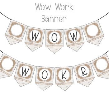 Shabby Farmhouse WOW Work Banner