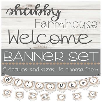 Shabby Farmhouse Welcome Banner
